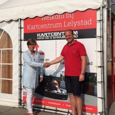 Nieuwe sponsor Kartcentrum Lelystad