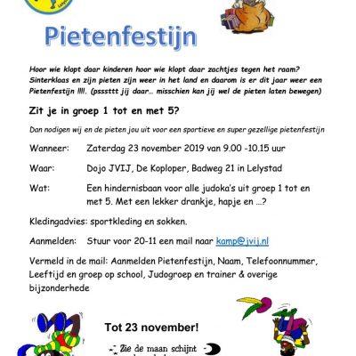 23 November: Pietenfestijn en Hindernisparcours